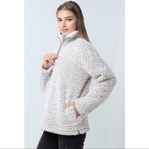 NWT Cream/beige Faux Sherpa Pullover/Teddy Jacket